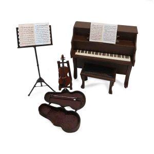 مجموعه ساز های موسیقی مینیاتوری ، ماکت ، مینیاتوری ، دکور ، استاپ موشن ، ساخت استاپ موشن ، آراستاپ موشن